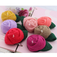 6pcs/Lot 5cm silk Flower For Baby Daisy Flower With Clip Solid Chiffon Flower For girl hair&garment accessoires free shipping