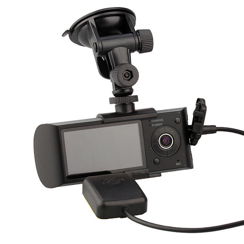 2.7 Inch Screen Dual Camera Car Blackbox DVR with GPS Logger and G-sensor X3000(China (Mainland))