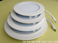 3W led panel lamp round or square for indoor use with free shipping