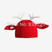 Freeshipping Original Design Gorro Hat Snapback Beanies Wool  Fawn Cap Hats For Women Caps Handmade Holiday Fashion Winter Hat