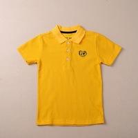 Wholesale& retail  2015 Summer Camiseta Shirt Kid Tiger print yellow,white color T-shirt Boys Clothes Children Tshirts Clothing