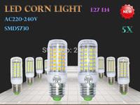 5PCS  High Brightness  LED Corn Light Bulb E27/E14  SMD5730  3W 5W 9W 10W 12W 15W 18W 25W  Energy Saving 220--240V 110V