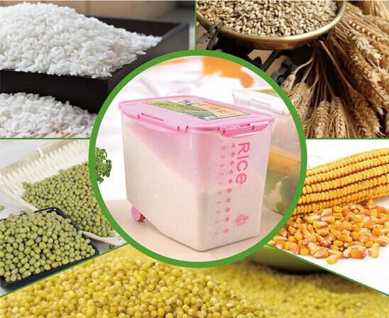 Umidade muito grande caixa de armazenamento de barris de armazenamento de grãos amassador de batata superfície quadro inseto com rodas para loja 12 kg(China (Mainland))