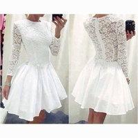 2015 Hot Sale Freeshipping Satin Ball Gown Floor-length Half Tropical Vestido Vestidos Femininos New Women Slim Lace Dress