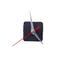 Free Shipping 20pcs/lot Clock Movement Mechanism Silver Hour Minute Red Second Hand DIY Tools Kit