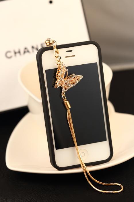 HOT SALE Romantic butterfly Dustproof Plug Mobile Phone Dust Plug Sweet Girls Phone Pendants PWD0023(China (Mainland))