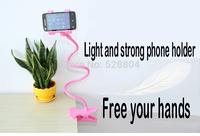 2015 New Fashion phone holder 360 rotation High quality adjustable hose universal car bracket stowing tidying