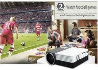 "120"" Portable Mini LED 3D Projector Home Cinema Theater Support HDMI/AV/VGA/USB/SD Mini Projector up to 64GB SD card"