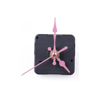 Free Shipping 20pcs/lot Clock Movement Mechanism with Pink Hour Minute Second Hand DIY Tools Kit
