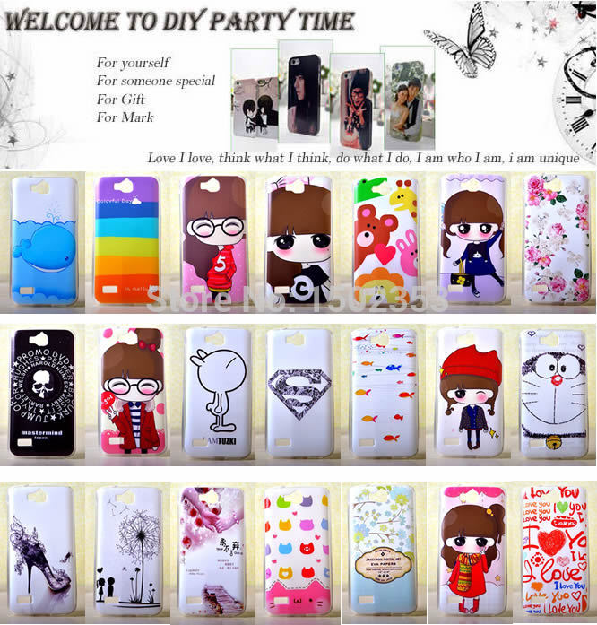 DIY Cover Case for Huawei honor 3c Play 3C lite Soft TPU Silicone Bear Love Girl Rose Flower Skull Rabbit Supperman Cat Stripe(China (Mainland))