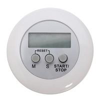 White Mini Magnetic Digital LCD Countdown Timer Alarm