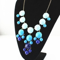 2015 Valentine's day Gift Hot seller Vintage Necklaces Bib Statement Necklaces Choker Jewellery Long Pendant Beaded Necklaces