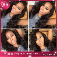 Jet Black #1 Hair Weaving Brazilian Body Wave Hair Extensions 3pcs/lot Cheap #1 Body Wave Brazilian Virgin Hair In Stock