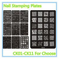 Nail Stamping Plates Stamper Konad Nail Plate Stamp Lmage Plate Nail Art Stamping Kit DIY Image Plate Template (NR-WS40)