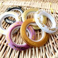 High quality Curtain accessories Nano Mute sliencer roman rings eyelets circles hole-digging Curtain Ring 50PCS/Lot
