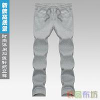 Trend plus velvet health men pants fashion sports pants fitness pants outdoor thickening health pants pattern