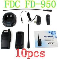 10PCS NEW Walkie Talkie  FEIDAXIN FD-950 LED Flashlight VOX Dual Display Walkie Talkie UHF 400-480MHz 10W 99CH