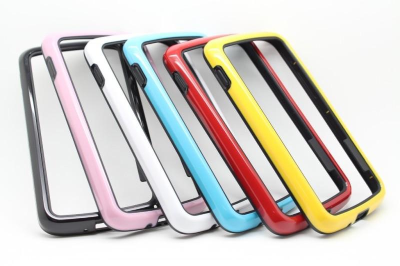 Free Shipping Borderline Bumper Frame Case cover for Google Nexus 4 LG E960 TPU Bumper Dual Color Case, Newest Case for Nexus 4(China (Mainland))