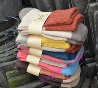 Free shipping! women socks female sock Winter wool socks 5pairs/1ot candy color calcetines