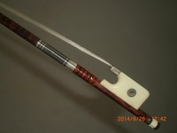 1 PC Nice Quality Snake Wood Cello Bow with OXFrog 4/4