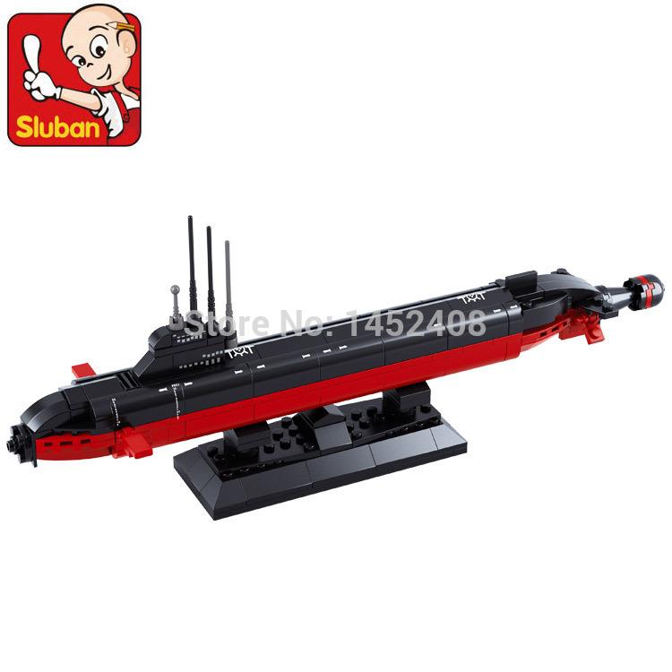 COOL Sluban B0391 NUCLEAR SUBMARINE Army NAVY Warship DIY Model Building Blocks Bricks Toys Gift arma scale models 193PCS(China (Mainland))