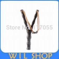 Free Shipping Bamboo Style Wood Wooden Sling Shot Toys Slingshot Bow Catapult Hunting BA150103