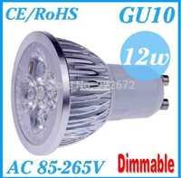 FREE SHIPPING 1pcs/lot  Dimmable GU10 E27 MR16 E14 3W 9W 12W 15W High power LED Bulb Spotlight Downlight Lamp LED Lighting