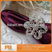 (100piece/lot)2015 high quality sparkly rhinestone flower napkin ring