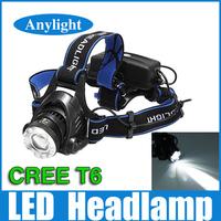 CREE LED headlight head lamp zoom xml-t6 led 2000lumens high power headlamp light WLF25