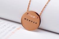 Wonder rose gold 18k love necklace Korean TV dramas