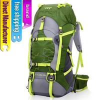 45+5L Fashion Waterproof Men hiking Bags women Backpack Sport duffle Bag unisex Gym Bag Camping bag Free shipping