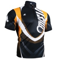 FIXGEAR BM-5802 Casual Men's Short Sleeve Jersey 1/4 Zip up T Shirts Breathable Quick Dry Workout Fitness Clothing S-3XL