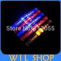 HOT SALE Flashing Bracelet Wristband with happy LED Lights bracelet for birthday party decorations kids 12PCS/LOTS