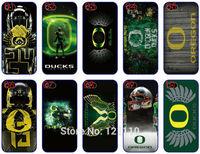 NCAA Oregon Ducks team logo case for Apple iphone 4 4S 5 5S 5C 6 6plus Plastic Hard Back Skin Cover Mobile Phone Bags Cases