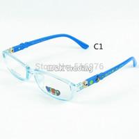 Kids Custom Optical Frame Oculos Clear Lense Children Glasses Light Soft Material Optical Eyeglasses Square Eyewear Candy Color