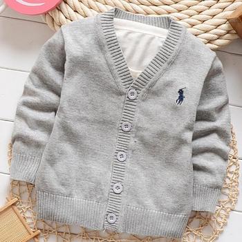 2015 новый осень конфеты цвет 100% высокое качество мальчиков и девочек кардиган свитер пальто на 1-5 майка. дети свитер, одежда для новорожденных