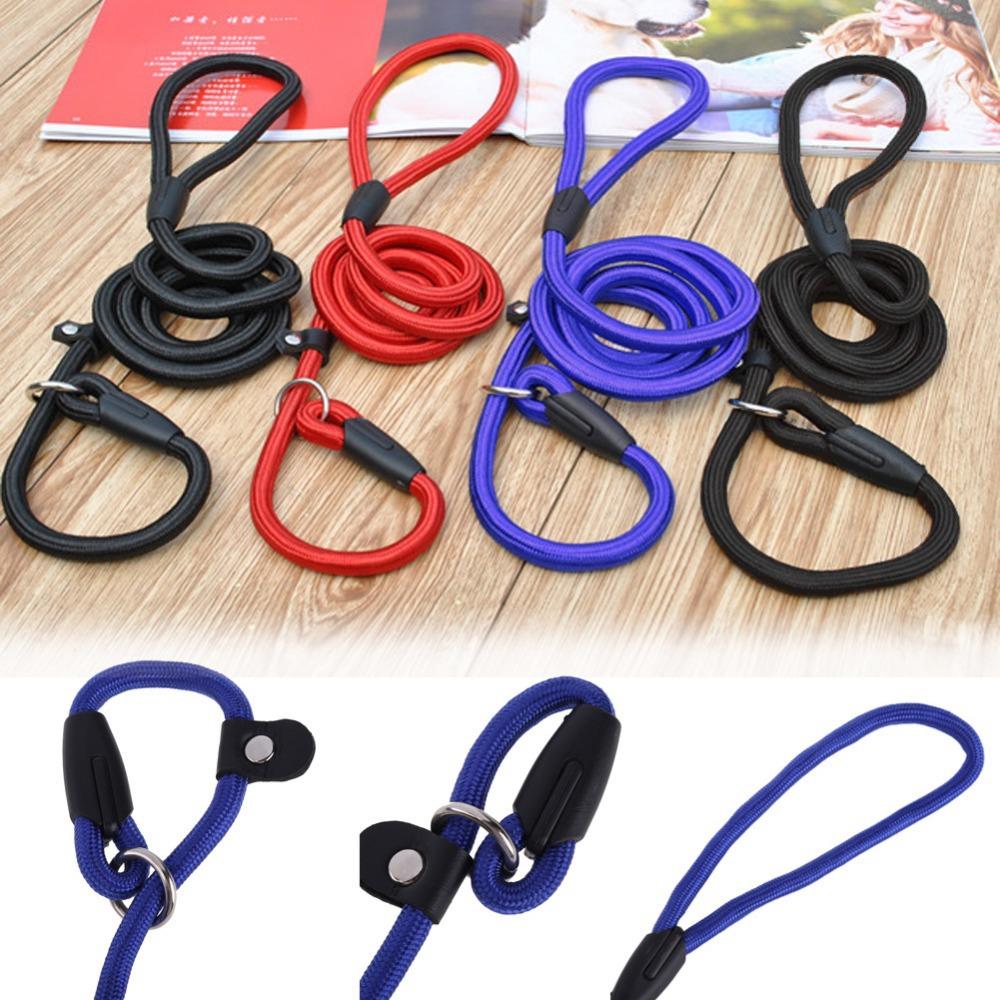Free Shipping Adjustable Dog Pet Puppy Training Neck Leash Strong Nylon Rope Lead Leash K5BO(China (Mainland))