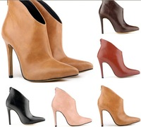 Paragraphs 2015 big-name stars high-grade naked boots to Europe and the United States pointed ultra-high code size 42