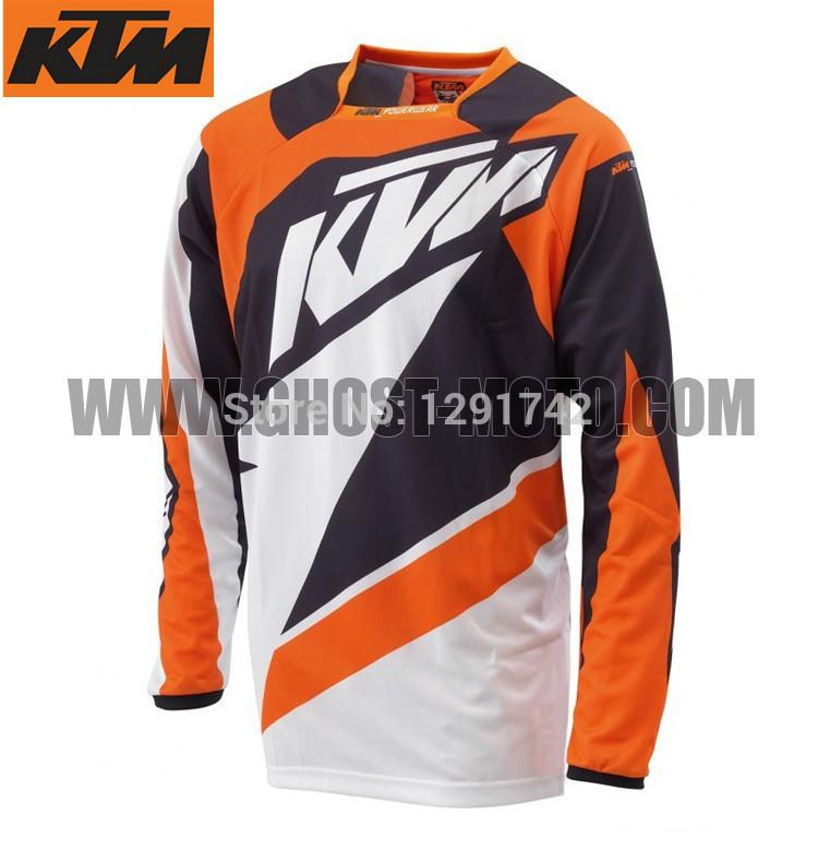 2015 KTM Motocross Jersey MTB BMX Men Motorcycle Motocross Jersey Mountain Bike Bicycle Cycling Jersey Shirt orange clothing(China (Mainland))