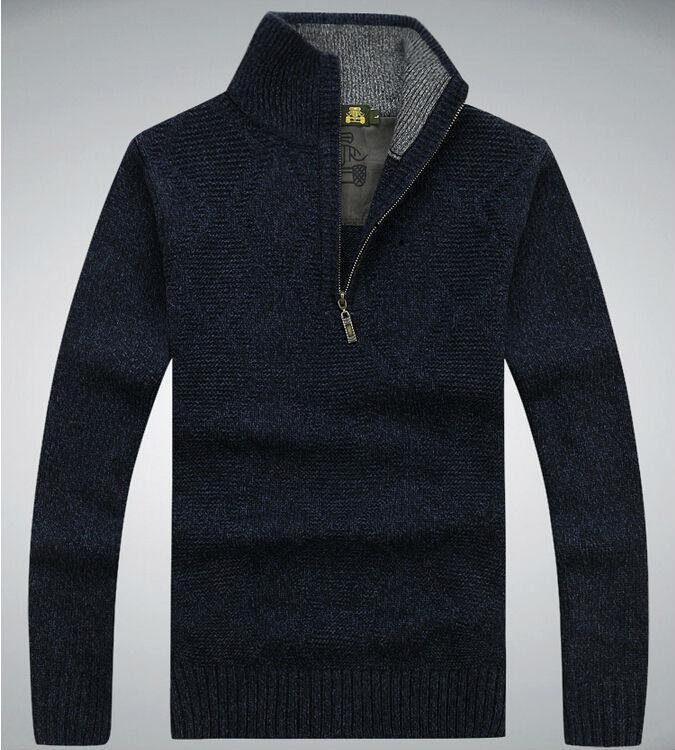 White Zipper Sweater 2014new Man Zipper Sweater