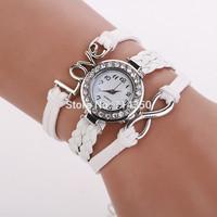 2015 Luxury design women dress wristwatch strap with love dial Imitation diamond design female women dress clock relogios XR767