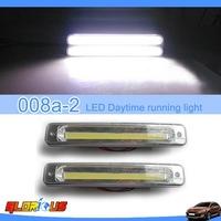 2015 high quality!! COB light  LED Car Daytime Running Light DRL Daylight Lamp with Turn Lights Freeshipping