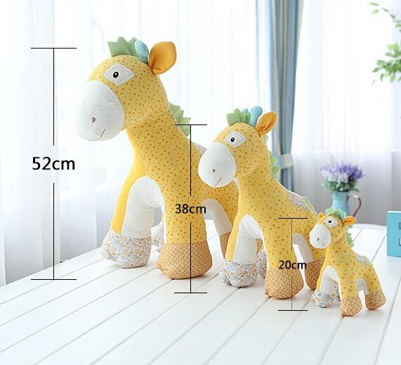 Free shipping hot sale 21cm mini size plush animals giraffe dog horse pp cotton stuffed sika deer lovers valentine gift baby toy(China (Mainland))