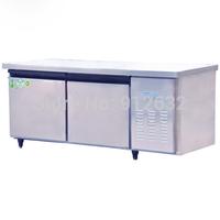 1.5m stainless steel 2 doors refrigerator work bench table, refrigerated work bench table