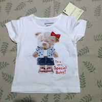 Retail  Brand  2015  New Listing  fashion  summer  children's  T-shirt  character  patttern  O-Neck  girl's  T-shirt