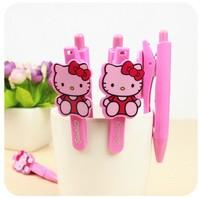 Free shipping 20pcs/lot Hello Kitty DOLL Decor Ball Pen Ballpen ; Novelty Gift Stationery Ballpoint Pen ; Ball Point PEN