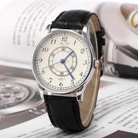New Classic Women Men Leather Strap Wristwatch, gentleman Business watch Women's Dress Watches quartz Clock