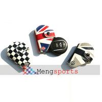 10pcs NEW MINI R55 R56 Real Leather Key Case Holder Union Jack Grid Shipping free