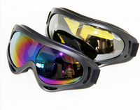 Winter Outdoor Sports White frame coloured lens Adult Snowmobile Snowboard Skate Ski goggles X400 UV Protective Glasses Eyewear