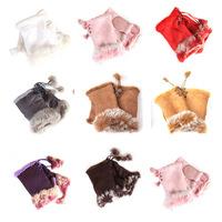 Cotton Wrist Cotton Gloves Fashion Solid 7 Colors Women Gloves Fingerless Cotton Gloves Women Fur Hand Warm Winter Free Shipping